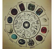 Gemstone Zodiac Wheel Photographic Print