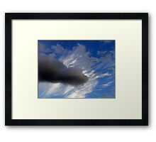 ©HCS In To The Deep Blue With Cirrus IA. Framed Print