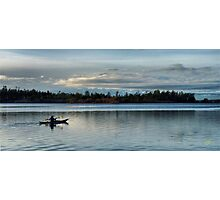 Kayaker into the Night Photographic Print