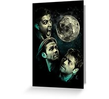 The Mountain Team Free Will Moon - Supernatural Edition Greeting Card