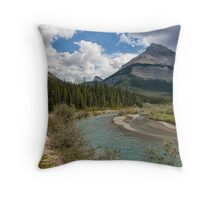 Blue Skies on the Icefields Parkway Throw Pillow