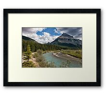 Blue Skies on the Icefields Parkway Framed Print