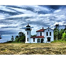 Lighthouse Under the Clouds Photographic Print