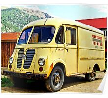 Old Yellow Vintage Delivery Van Poster