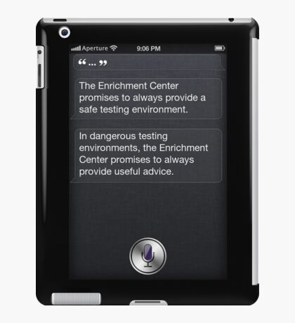 GLaDOS Siri iPad Case/Skin