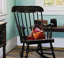 Basket on Yarn on Rocking Chair by Susan Savad