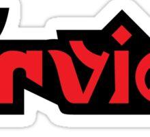 Splatoon Firefin Text Logo Red Sticker