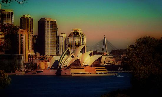 Sydney Opera House at dusk by StarKatz