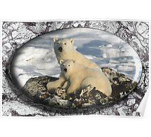 February Polar Bears Poster