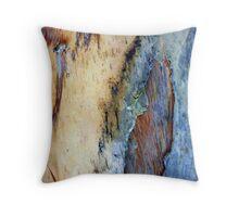 Blue Bark Throw Pillow