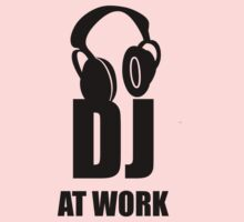 Dj At Work - Headphones One Piece - Short Sleeve