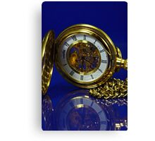 Reflections in Time - Gold and Blue Canvas Print