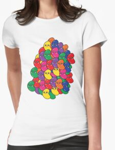 Happy Kawaii Jellybeans Womens Fitted T-Shirt
