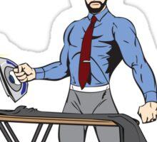 The Amazing Ironing Man!!! Sticker