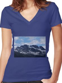 Glacier Mountain Women's Fitted V-Neck T-Shirt