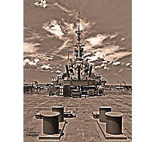 USS Alabama (rear guns) Photographic Print