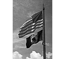 US Colors and POW/MIA Flags Photographic Print
