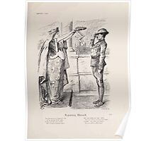Cartoons by Sir John Tenniel selected from the pages of Punch 1901 0193 Reporting Himself Poster