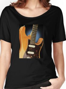 Fender Stratocaster Electric Guitar Natural Women's Relaxed Fit T-Shirt
