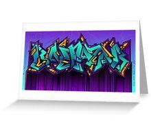 Baltazar graffiti Greeting Card