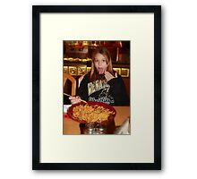 Just a little spicy!! Framed Print