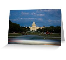 Passing the U.S. Capitol Greeting Card