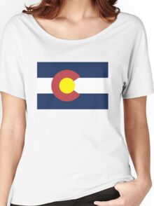 Colorado State Flag, USA Women's Relaxed Fit T-Shirt