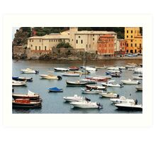 Summer in Sestri Levante Art Print
