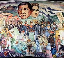 Mural of Revolutionary Heroes, Oaxaca Ciudad, Mexico by Max Buchheit