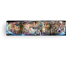Mural of Revolutionary Heroes, Oaxaca Ciudad, Mexico Canvas Print