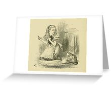 Through the Looking Glass Lewis Carroll art John Tenniel 1872 0240 Red Queen Greeting Card
