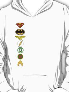 Justice League Logos T-Shirt