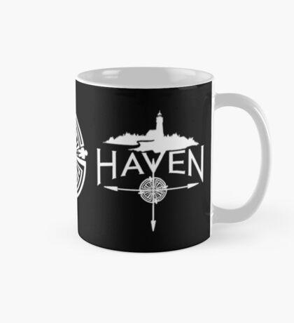 White Troubled Tattoo Haven Logo Mug
