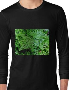 Summer Ferns in the Forest Long Sleeve T-Shirt