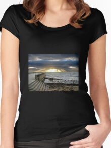 Sunset at Elwood Beach Women's Fitted Scoop T-Shirt