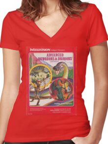 Advanced Dungeons & Dragons Cartridge Women's Fitted V-Neck T-Shirt