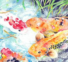 A Gathering Place - Four Koi by wademcmillan