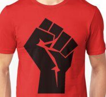 Raised Revolution Fist, Silhouette Unisex T-Shirt