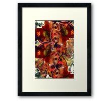 Abstracted Butterflies in Fauvist Colors #23 Framed Print