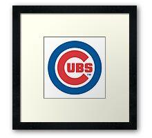 Chicago Cubs logo Framed Print