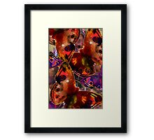Abstracted Butterflies in Fauvist Colors #24 Framed Print