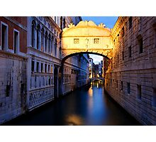 Bridge of Sighs Photographic Print
