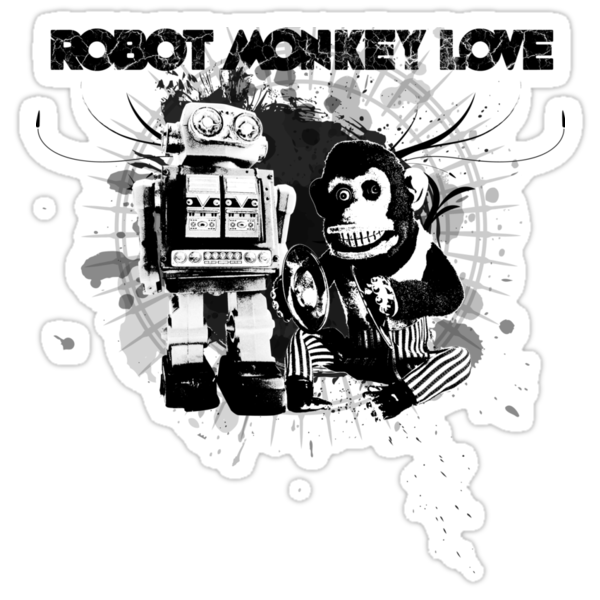 Robot Monkey Love by Rossman72