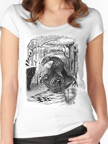 The Jabberwocky Again Women's Fitted Scoop T-Shirt