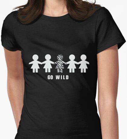 Go Wild Womens Fitted T-Shirt