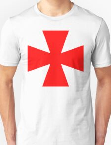 Red Medieval Crusader Cross, Symbol T-Shirt