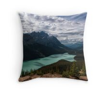 (Nearly) Clear Skies at Peyto Lake Throw Pillow