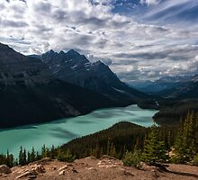 (Nearly) Clear Skies at Peyto Lake by Kristin Repsher