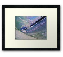 Aqua Pallet  Framed Print