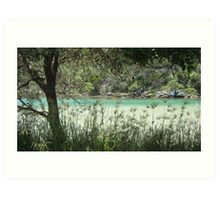 Hat Head River leading to the Ocean. Art Print
